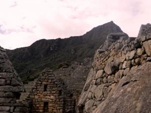 The ruins of Machu Picchu.