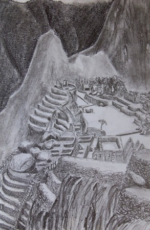 Travel Sketch of Machu Picchu