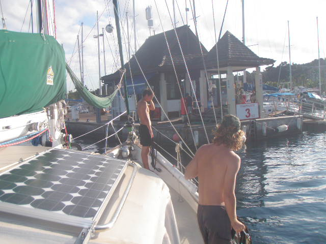 We came into Marina Taina to get gas before leaving Tahiti.