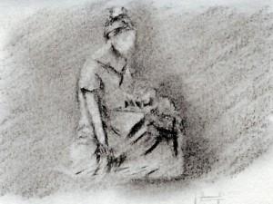 Maternity Statue in Granada