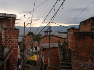 Up in a hill neighborhood of Medellin.
