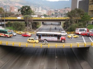 The roads and bridges of Medellin.