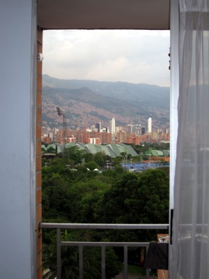 The view of Medellin from Sonya's apartment.