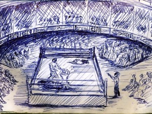 Sketch of Mexico Lucha Libre