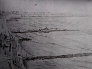 Travel Drawing of Peruvian Coast