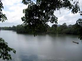 The river in El Rama, Nicaragua.