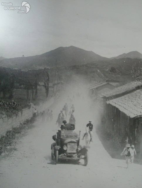 Old Loja, Ecuador in the past.