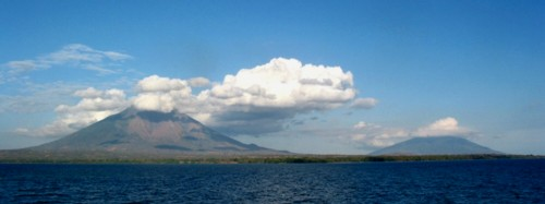 The beautiful volcanic island of Ometepe.