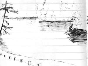 Sketch of an Oregon lagoon