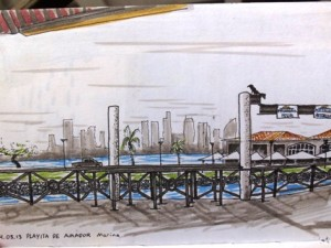 Panama City Marina Sketch