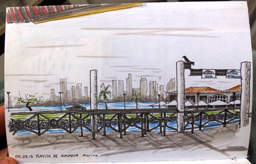 Panama City Marina Sketch