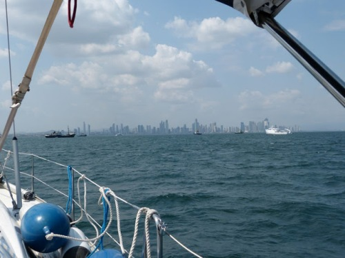 A view from Maloo Maloo toward the Panama City skyline.