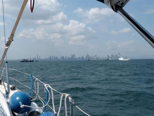 A view from Maloo Maloo toward the Panama City skyline.