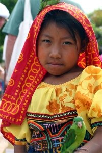 A Kuna girl in the Panamanian islands.