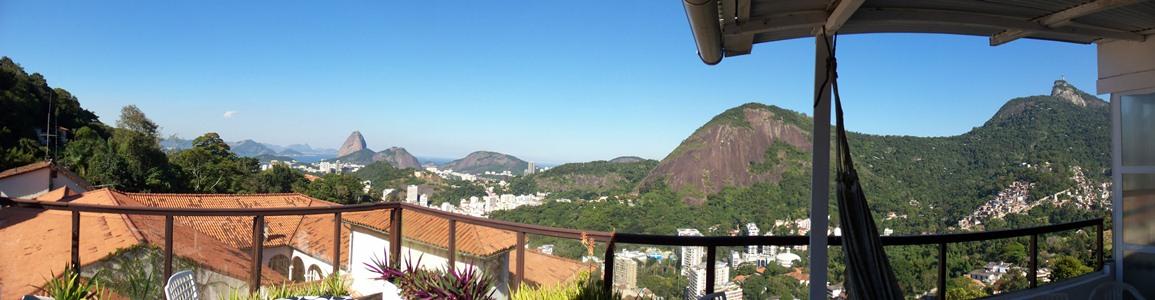 A photographic panorama of Rio de Janeiro, Brazil.