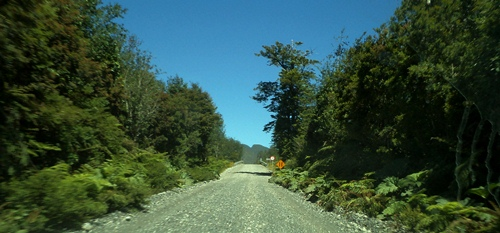 A Patagonian road on the Carretera Austral.