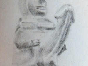 Drawing of Penis Statue