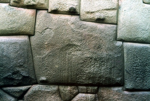 The perfect cuts of the Incan foundations in Cuzco.