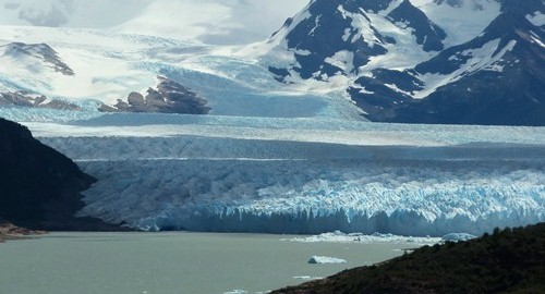 The Perito Moreno glacier in Patagonia.