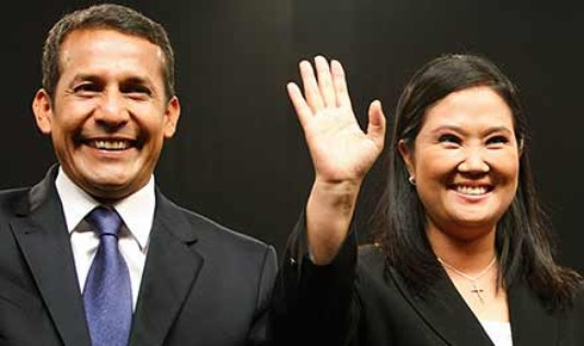 The 2001 presidential candidates of Peru, Ollanta and Keiko.