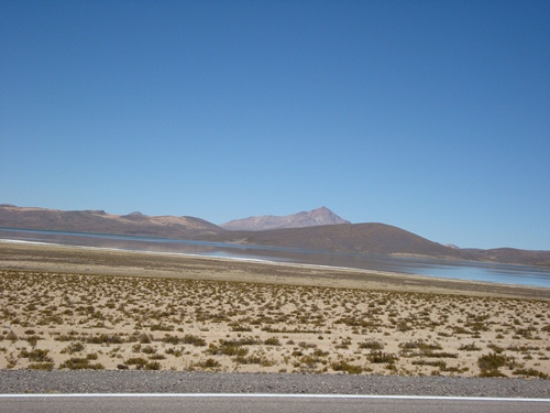 The desolate desert between Desaguadero, Bolivia and Moquegua, Peru.