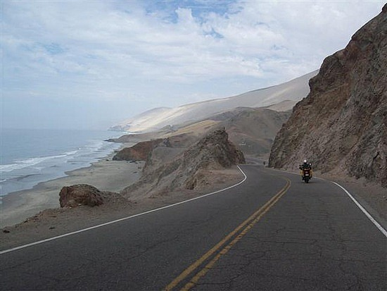 The desert coastal roads of Peru, near where the accident took place.