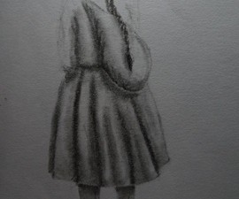 Drawing Peruvian traditional dress.