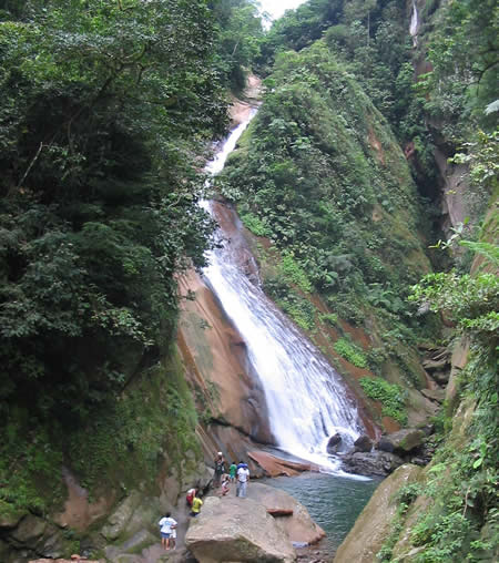 Velo de la Novia, a waterfall near Pucallpa, Peru.
