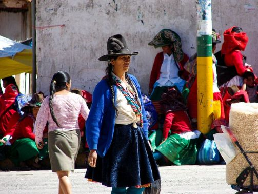 A Peruvian woman in Caraz.