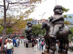 Plaza Botero in Medellin.