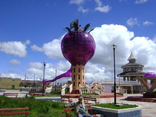Plaza de la Maca in an Andean town.