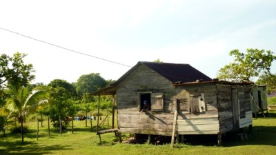 One of the poor houses of Nicaragua's Pearl Lagoon.