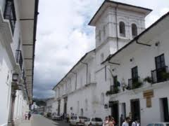 The town center of Popayan, Colombia.