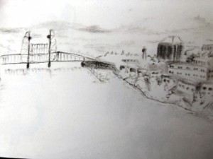 Portland Oregon travel sketch