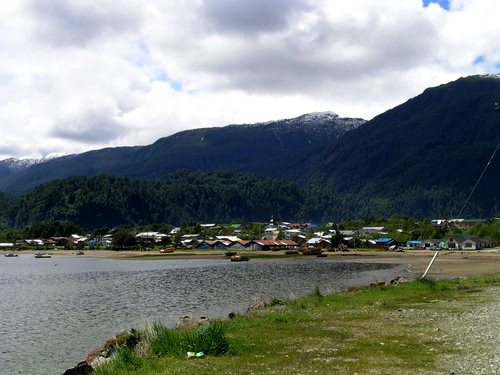 Puerto Cisnes, in Chile's Patagonia at an offshoot of the Carretera Austral.