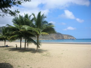 The beach in Puerto Lopez, Ecuador.