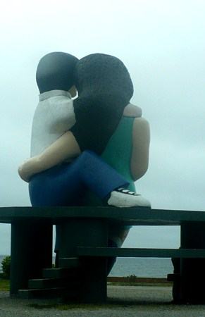 The lovers statue in Puerto Montt, Chile.