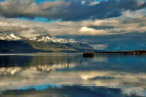 A beautifuly photograph of Puerto Natales, in Chile's southern Patagonia.