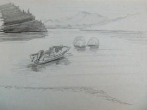 A travel sketch of Puyehuapi, Patagonia