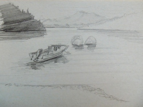 A travel sketch of Puyehuapi, Patagonia