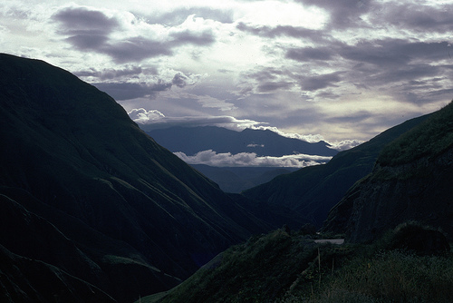 The road to Pasto, Colombia.