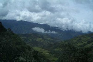 The Colombian scenery as the rig brought us higher.