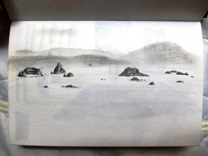 Travel sketch hitchhiking the Oregon coast