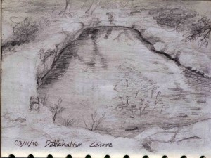 Sketch of a Yucatan Cenote