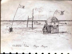 Sketch of Playa Maya, Tulum