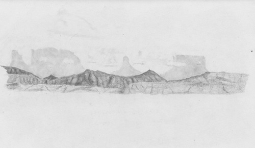 Sketch of Venezuela's Gran Sabana