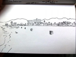 Quick sketch of Venice Beach.