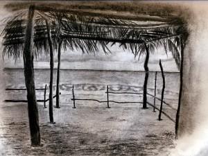 Sketching in El Salvador beaches