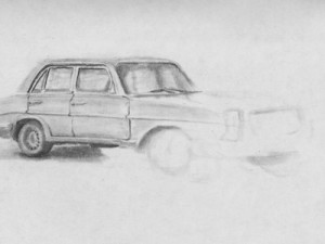 Sketching Old Cars in Venezuela