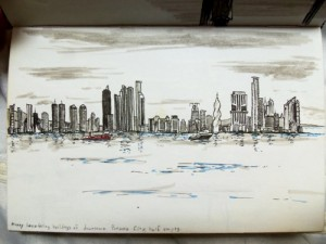 Sketch of the Panama City Skyline